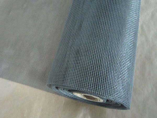 Grey PVC Coated Fiberglass Window Screen Roll