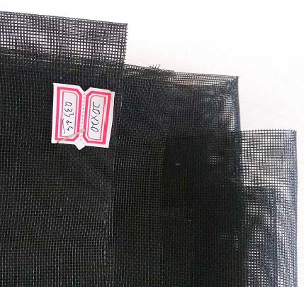 Fiberglass insect screen  black color  18x16 mesh 120g/m2