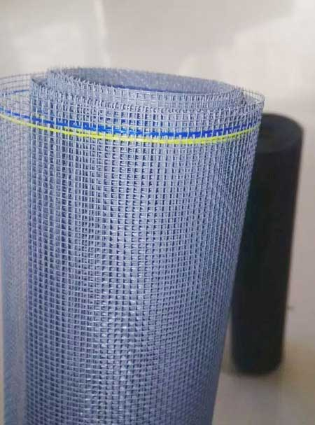 Grey Color PVC Coated Fiberglass Mosquito Net